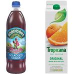Juice & Cordial Drinks