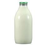 Whole Organic Milk 1 Pint Bottle