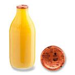 Orange Juice Glass Bottle 1 Pint