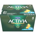 Activia Peach Fat Free Yoghurts 4 x 125g